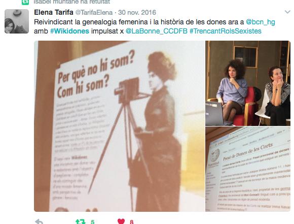 """Wikidones a la sessió """"Trencant rols sexistes"""""""